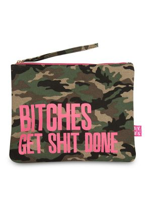 Carolyn K Bitches Get... Makeup Bag Camouflage 212679