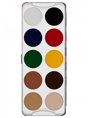 Kryolan 8104 Body Ilustration Make-Up Color Palette10 Color 210847