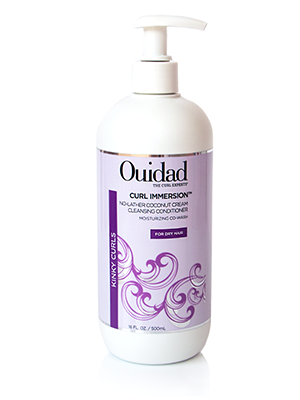 Ouidad Curl Immersion No-Lather Coconut Cream Cleansing Conditioner 16oz 207029