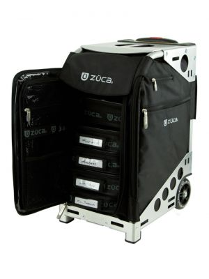ZUCA Pro Artist with 5 pouches - Black on Silver 163127